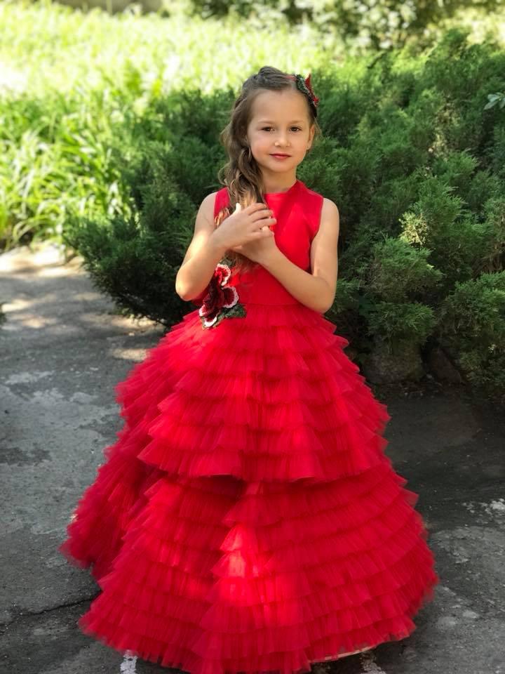 95e1b4fee4a4 прокат платья днепр нарядные бальные платья для девочки красивое платье  красного цвета Прокат платья, конкурсное